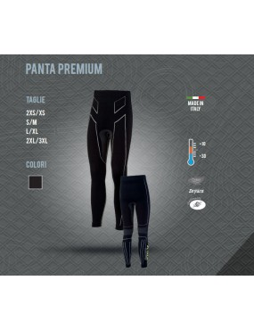 THERMAL PANTS X TECH PREMIUM PANTA FROM +10 TO -30 COLOR BLACK SIZE S / M