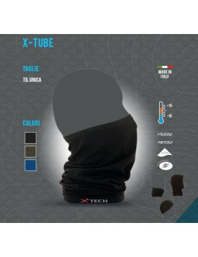 TUBULAR BANDANA / THERMAL NECK WARMER X TECH X-TUBE FROM +15 TO -15 COLOR...