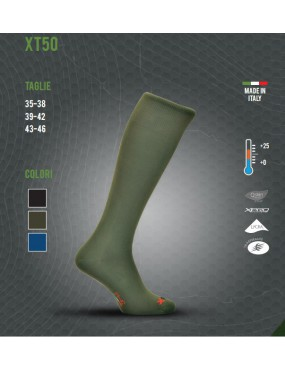 THERMAL SOCK X TECH XT50 FROM +25 TO +0 SIZE 39-42 COLOR BLACK