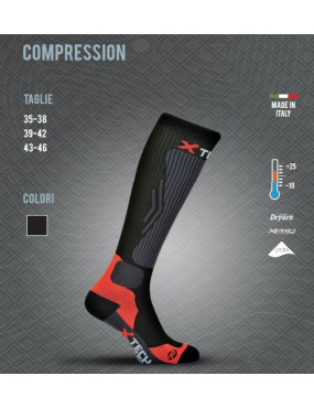 THERMAL SOCK X TECH COMPRESSION FROM +25 TO -10 SIZE 43-46