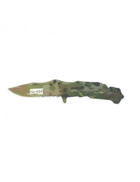COLTELLO TATTICO RICHIUDIBILE STEEL CLAW KNIVES CAMO K24 [CW-K24]
