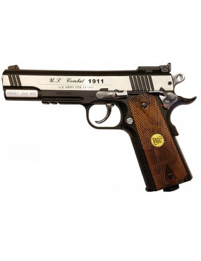 PISTOLA 1911 WG SPECIAL COMBAT WOOD CO2 SCARRELLANTE FULL METAL [C 601W]