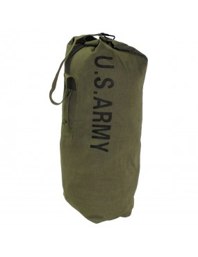 US ARMY STYLE BAG 100% COTTON CANVAS GREEN OLIVE [Z04]