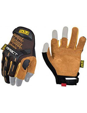 GLOVES MECHANIX WEAR FRAMER M-PACT LEATHER TAN SIZE S [LFR-75-008]