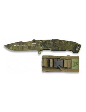 FOLDING KNIFE '' MOHICAN III '' WOODLAND K25 WITH CASE [19542]