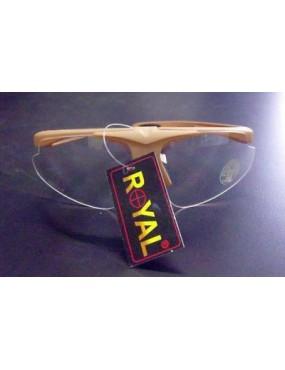 AIRSOFT GLASSES TAN PROTECTIVE ANTI FOG LENS TRANSPARENT TAN [DX701T]