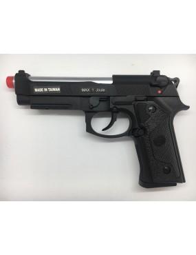 GAS PISTOL M92 ELITE IA TACTICAL SILVER BARREL BLOWBACK KJWORKS [KJ-92IA]