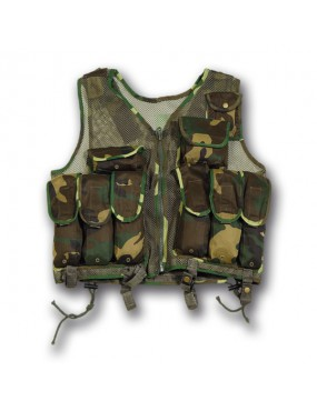 WOODLAND TACTICAL VEST WITH 10 POCKETS [M99 W]