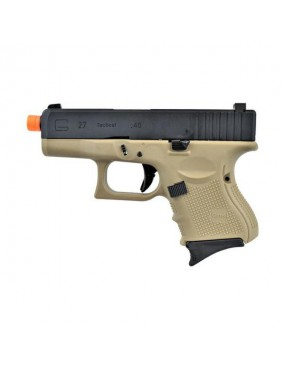 WE PISTOLA A GAS SCARRELLANTE GLOCK G27 GEN4 TAN FULL METAL  [W-G26T]