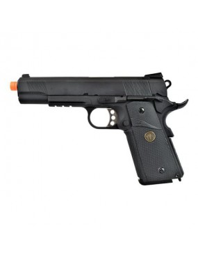 WE PISTOLA A GAS 1911 M E U RAIL NERA  [WE08B]