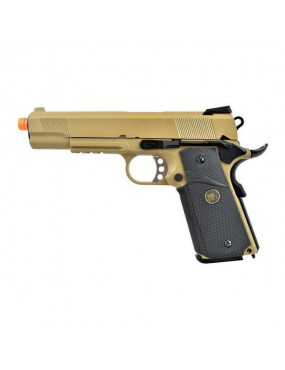 WE PISTOLA A GAS 1911 M E U RAIL TAN  [WE08T]