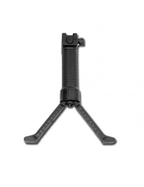 HANDLE WITH INTEGRATED ROYAL BIPOD IN BLACK ABS WITH SLIDE CONNECTION [B32B]