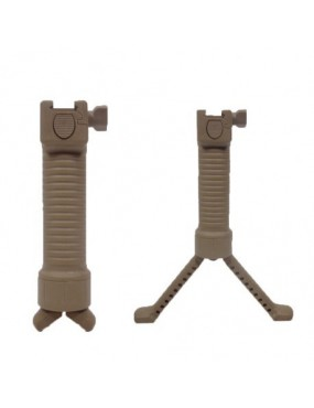 HANDLE WITH INTEGRATED ROYAL BIPOD IN ABS TAN WITH SLIDE ATTACHMENT [BA01T]