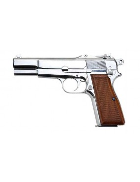PISTOLA A GAS BROWING MILITARY HI-POWER SILVER FULL METAL [7527]