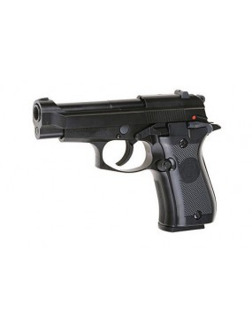 PISTOLA A GAS M84 BLACK  SCARRELLANTE FULL METAL [7725]