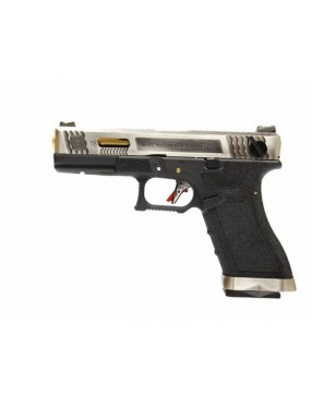 PISTOLA A GAS S18C G-FORCE T3 6mm  BLOWBACK  SILVER ORO E BLACK [7742]