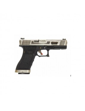 PISTOLA A GAS WE S17 G-FORCE T7 ARGENTO E NERO 6mm BLOWBACK [7756]