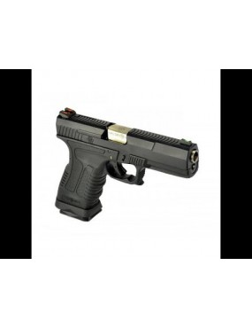 PISTOLA WE A GAS GP1799 T5 NERA E SILVER FULL METAL BLOWBACK SURVIVAL GEAR...