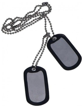IDENTIFICATION PLATES WITH PROTECTIVE RUBBER AND CHAIN [67300]