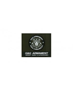 PATCH VERDE IN GOMMA G&G ARMAMENT CON VELCRO [PATCH G&G03]