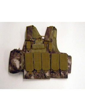 CYRAS TACTICAL A-TACS PADDED BODY WITH 10 POCKETS [V1026U]