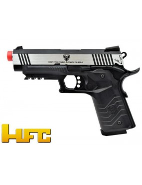 HFC 1911 GAS PISTOL BLOWBACK FULL METAL SILVER - BLACK [HG 171S]
