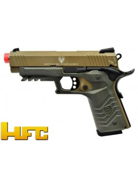 HFC 1911 GAS PISTOL BLOWBACK FULL METAL TAN - GREEN [HG 171T]