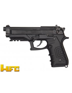 HFC GAS PISTOL B92SF TACTICAL GRIP BLOWBACK FULL METAL BLACK [HG 173B]