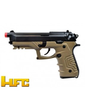 GAS PISTOL HFC B92SF TACTICAL GRIP BLOWBACK FULL METAL TAN SINGLE-BURST [HG...