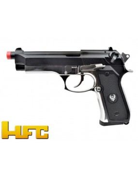 GAS PISTOL HFC B92SF FIREARM BLOWBACK FULL METAL SILVER [HG 194S]