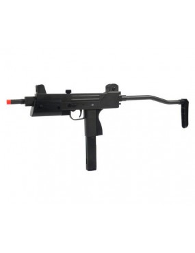 T77 MITRAGLIETTA FULL METAL A GAS SEMI/FULL AUTO HFC  BLACK [HG 203]