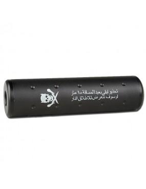 AIRSOFT SILENCER SKULL ARAB 130MM BLACK - BIG DRAGON [BD-0461]