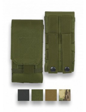 SINGLE MAGAZINE POUCH WITH VELCRO CLOSURE AND 600D SPRING ATTACHMENT GREEN...