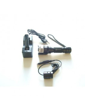 JS TACTICAL TORCH WITH BATTERY AND BATTERY CHARGER AND REMOTE [JS-FT250]