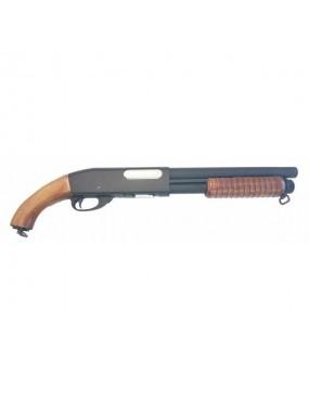 SHOTGUN IN METAL AND WOOD M870S (QL-M870SB)
