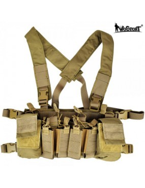 TACTICAL VEST MULTIFUNCTION TAN WO SPORT [WO-VE56T]