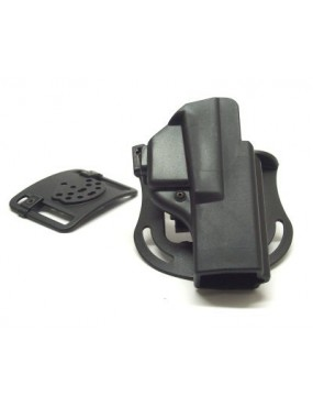 VEGA POLYMER HOLSTER SHOCKWAVE SHWC009L FOR GLOCK 17 22 31 37 WITH 8K26 AND...