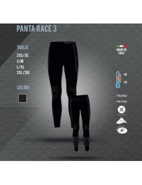 THERMAL PANTS X TECH PANTA RACE 3 FROM +10 TO -25 COLOR BLACK SIZE L / XL