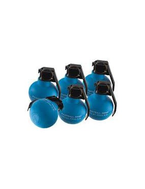 TAGINN TAG-67 HAND GRENADE PIROTECNICA PAINTBALL SET X6 [TAG-67 BLUE X6]