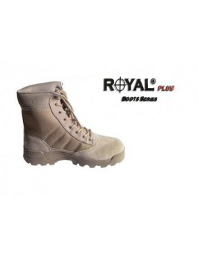 TAN BOOTS IN ECO LEATHER-CORDURA WITH HIGH GRIP SIZE 45 [RP-BMT-45]