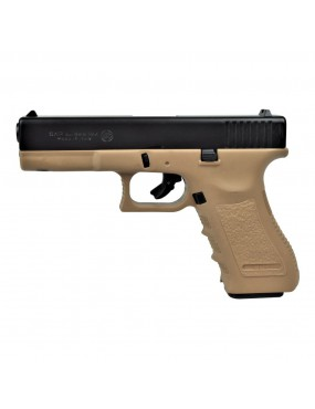 BRUNI BLANK PISTOL G17 CALIBER 8MM BLACK / TAN [BR-1400BT]