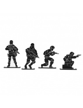 KIT 4 MINI TARGETS IN THE SHAPE OF SOLDIERS FOR WOSPORT METAL AIRSOFT [WO-TG12B]