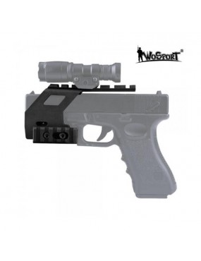 RAIL BASE SYSTEM FOR GLOCK PISTOL 17/18/19 BLACK [WO-GB49B]