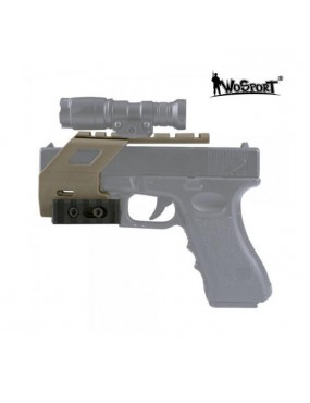 RAIL BASE SYSTEM FOR GLOCK 17/18/19 TAN PISTOL [WO-GB49T]