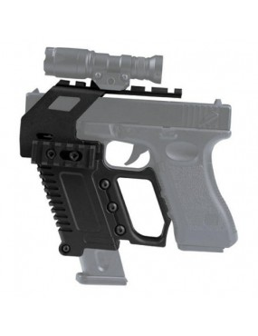 RAIL BASE LOADING DEVICE FOR GLOCK SERIES PISTOLS BLACK [WO-GB48B]