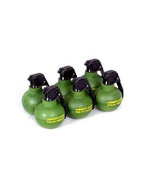 TAGINN TAG-67 PYROTECHNICAL HAND GRENADE AIRSOFT SET X6 [TAG-67 OD X6]