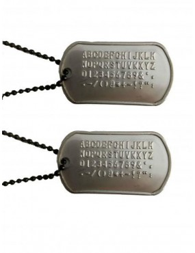 IDENTIFICATION PLATES WITH PROTECTIVE RUBBER AND CHAIN [67300 / P]