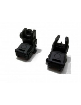 BLACK FRONT / POST FLIP-UP SIGHTS JING GONG [Z002B]