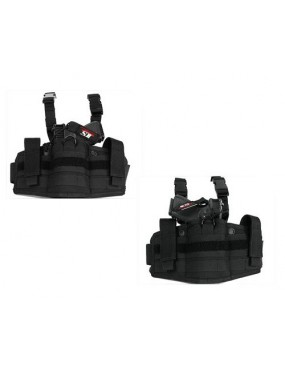 AOS LEG HOLSTER SPRING ATTACHMENTS FOR RIGHT AND LEFT BLACK [AOS-MS-36]