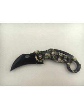 COLTELLO KARAMBIT RICHIUDIBILE STEEL CLAW KNIVES SKULL (CW-X10)